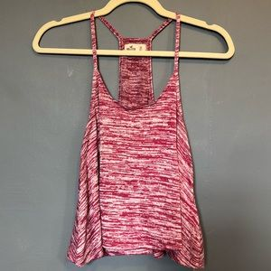 Pink marled Hollister tank top